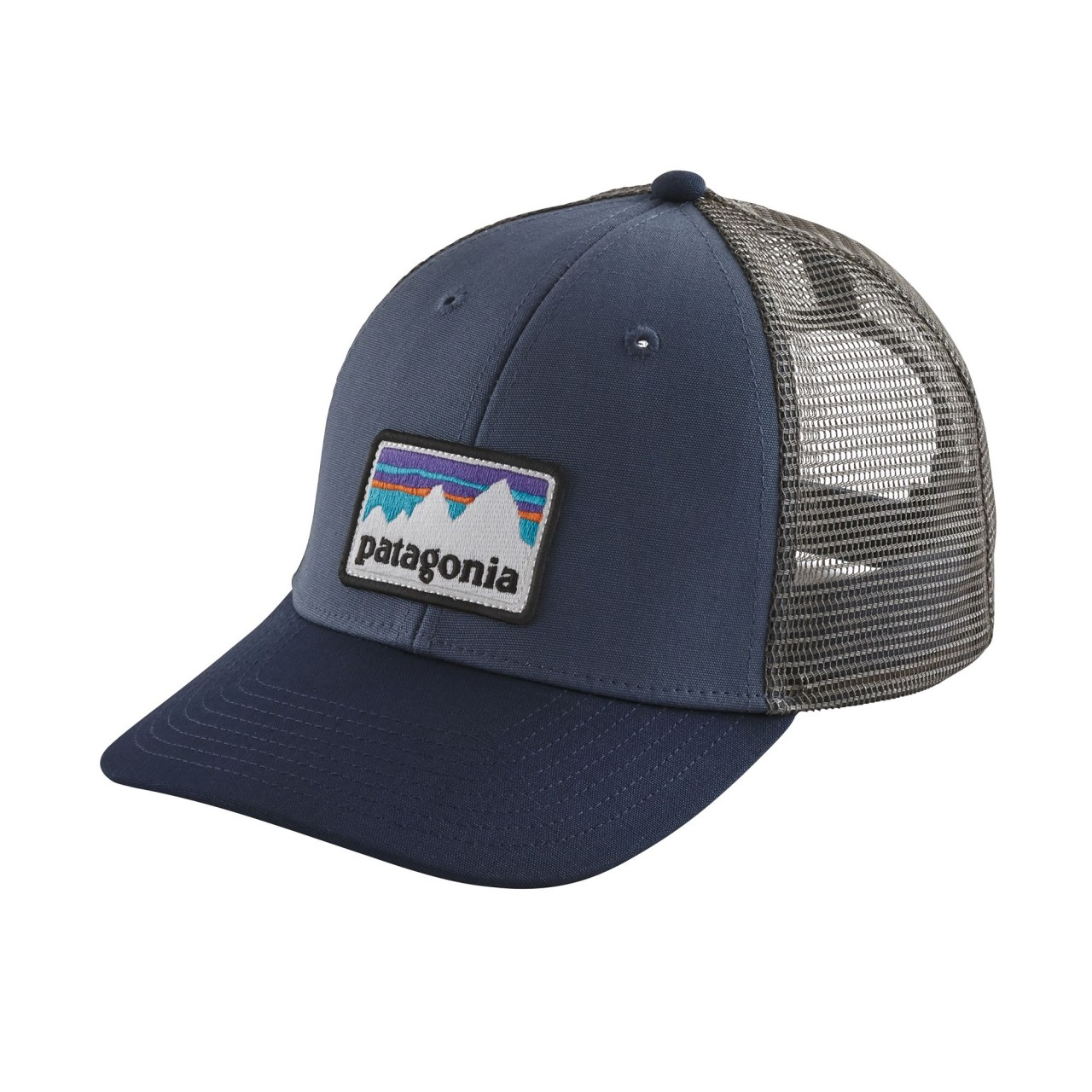 cfd33b2da77 The Patagonia P-6 LoPro Trucker Hat is a classic trucker hat with the all  important Patagonia P-6 logo on the front. The LoPro version features ...