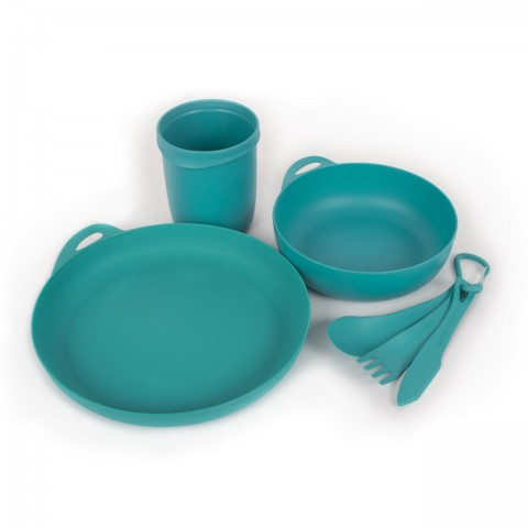 Preview of Delta Camp Set (Bowl, Plate, Mug, Cutlery) Pacific Blue