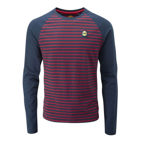 Preview of Men's Striped Bamboo Tech T-Shirt - Long Sleeve