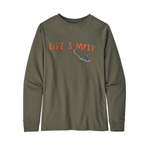 Preview of Boys' Long-Sleeved Graphic Organic Cotton T-Shirt