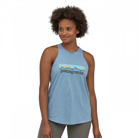 Preview of Women's Pastel P-6 Logo Organic High Neck Tank