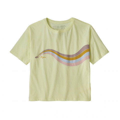 Preview of Psychedelic Slider Organic Cotton Easy-Cut Tee - Women's