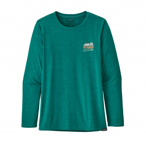 Preview of Women's Long-Sleeved Capilene Cool Daily Graphic Shirt